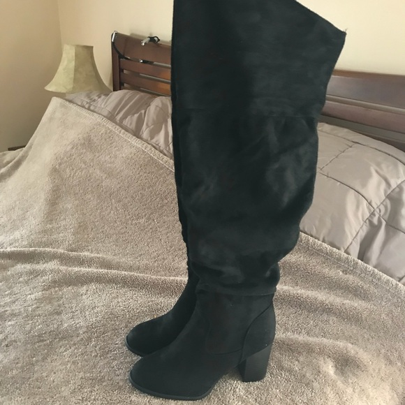 21f5752bef3b brinley co Shoes - Brinley Co women s wide calf black heel boots 8.5